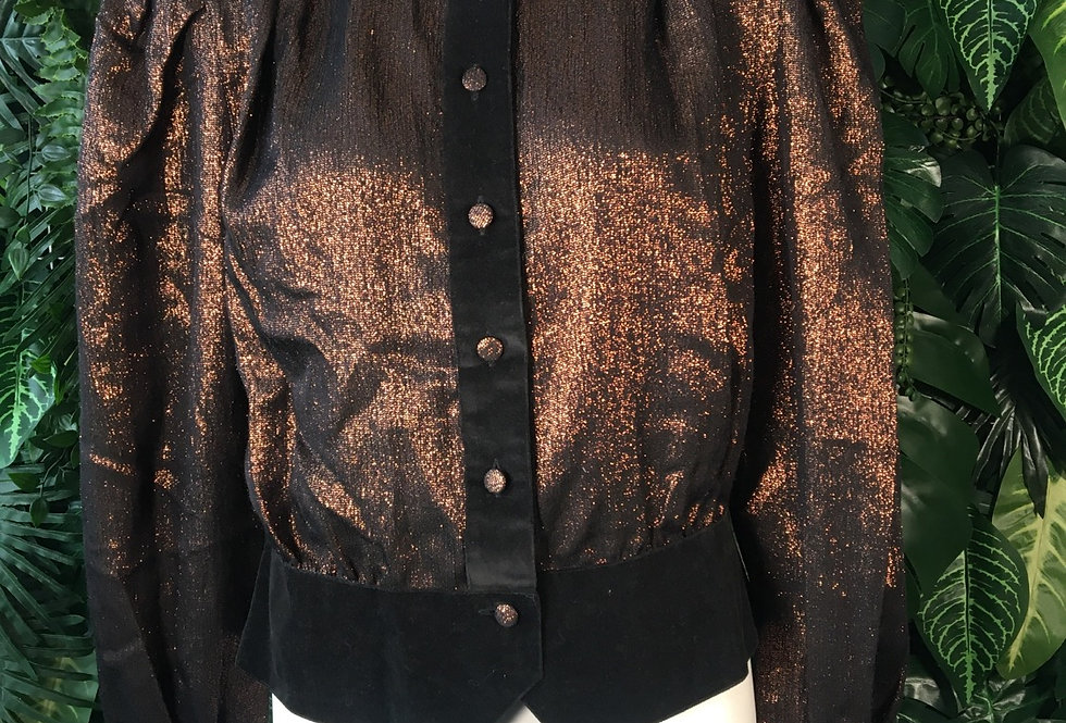 Jean René 80s copper blouse