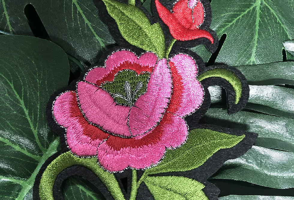 Floral iron on patch