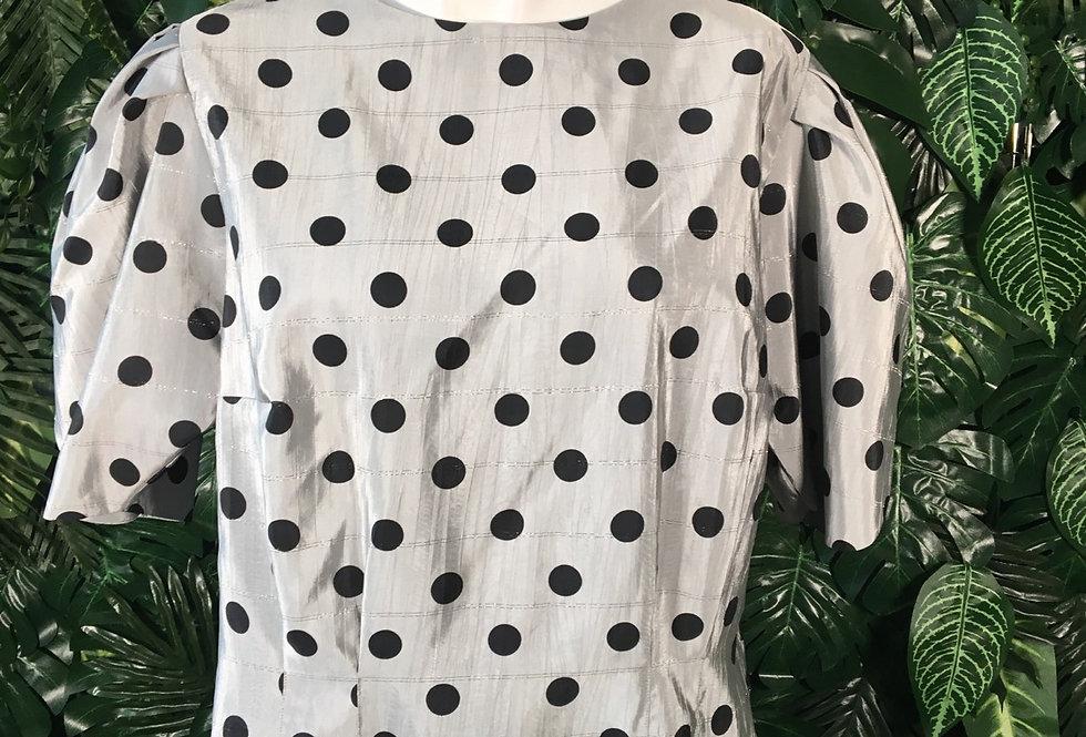 Polkadot bell sleeve blouse (size 16)