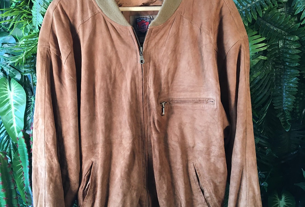 Best Of Nature Suede Bomber