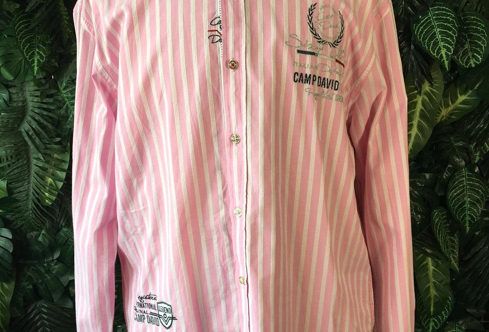 Camp David pink striped shirt (XL)