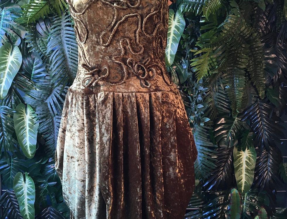 70s Green Velvet Dress