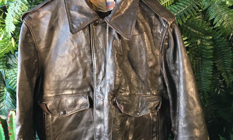 Authentic US Leather Flight Jacket
