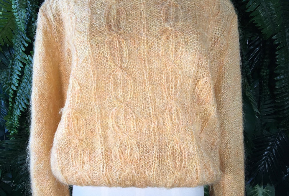 Hand Knit Mohair Sweater (M)