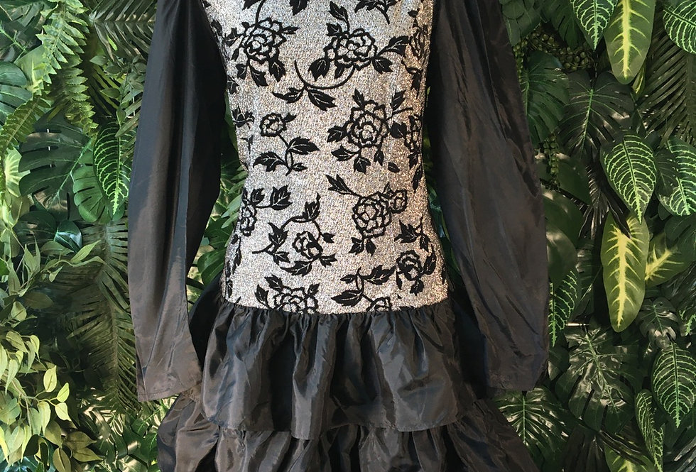 Silver leaf prom dress (size 38)