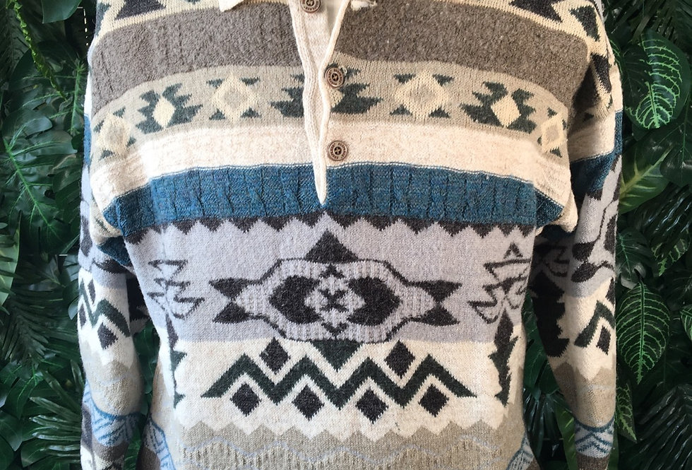 90s graphic knit (M)