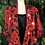 Thumbnail: Red floral 80s blouse