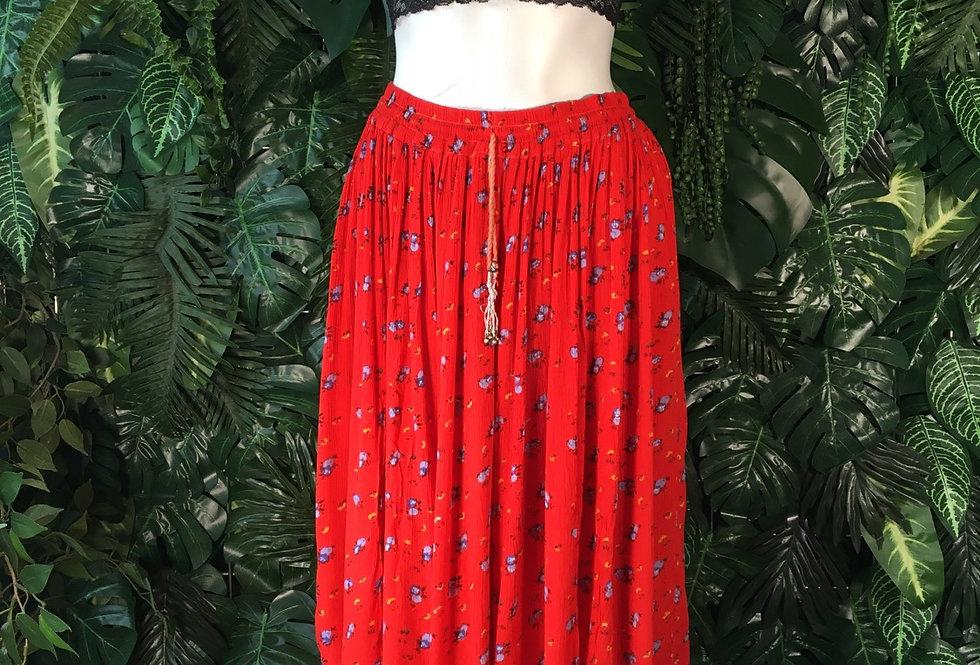 Red hippy skirt