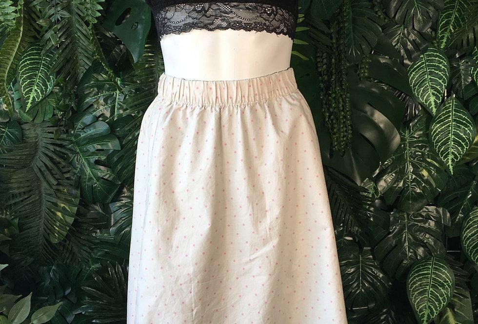 Faun skirt with pink polkadots (size 36-38)