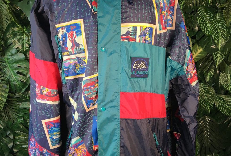 Jeantex rain jacket with zip away hood (L)