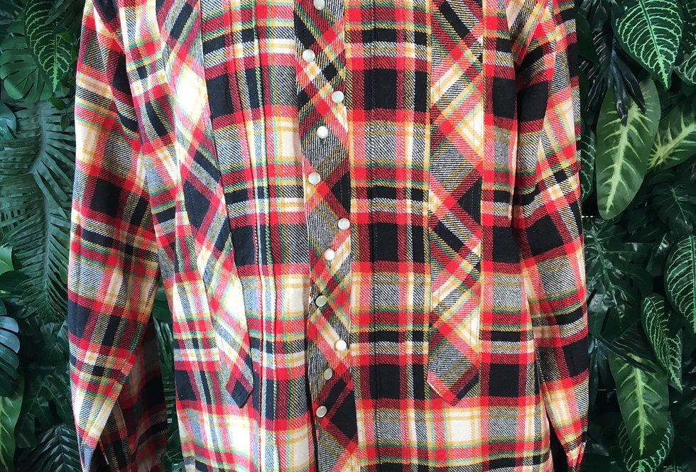 90s plaid shirt (L)