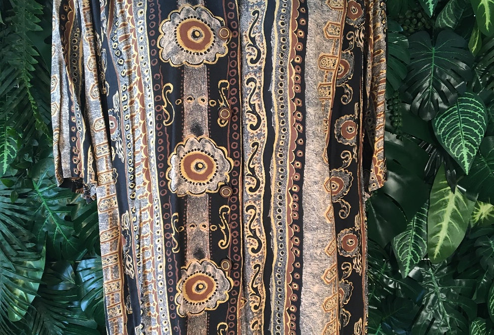 90s printed blouse
