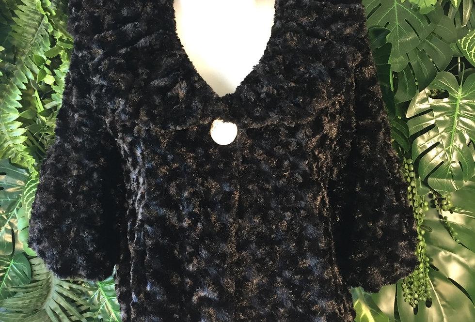 S Line textured faux fur shrug (M)
