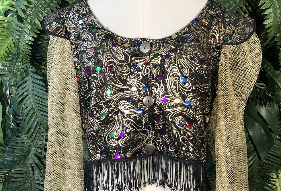 80s glitter genie blouse