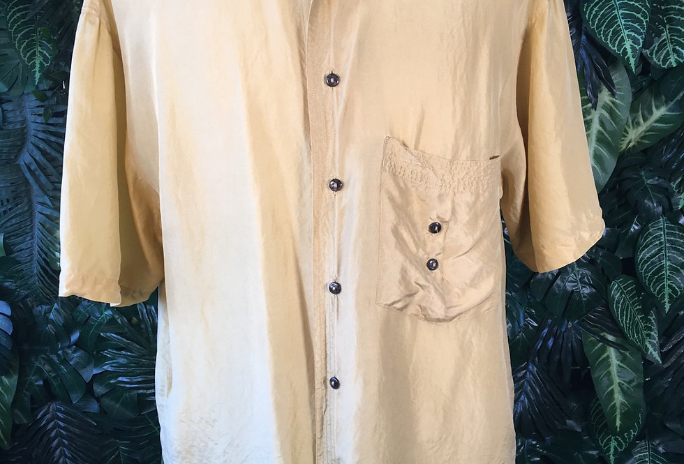 Mustard silk shirt (XL)