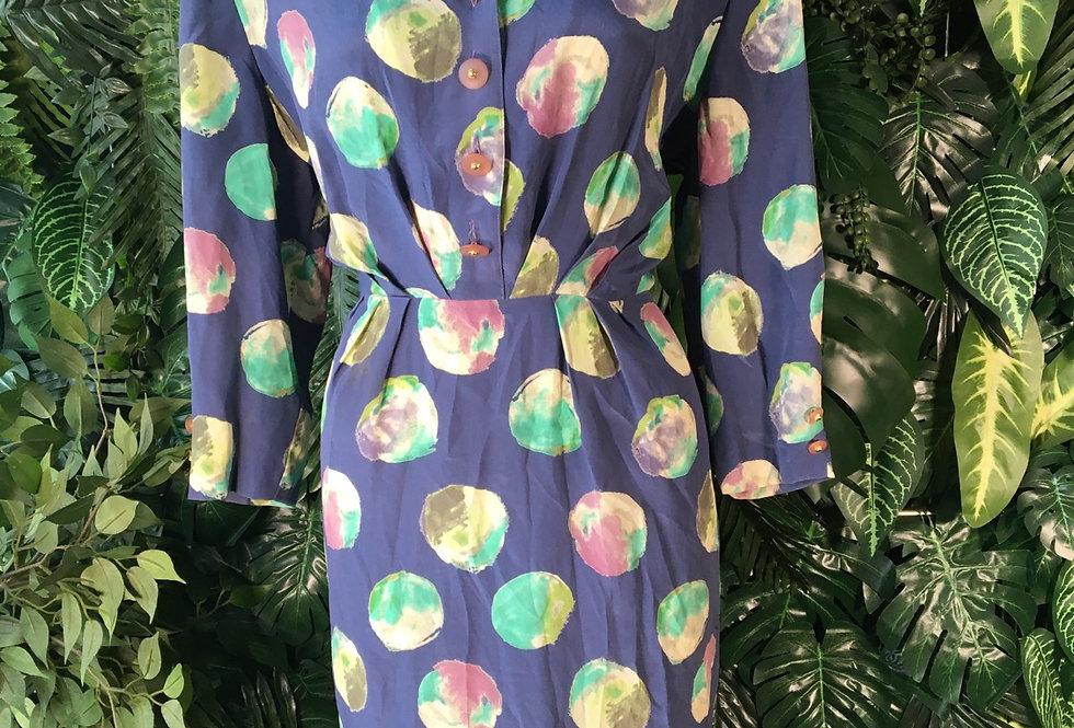 Abstract spot dress (size 14)