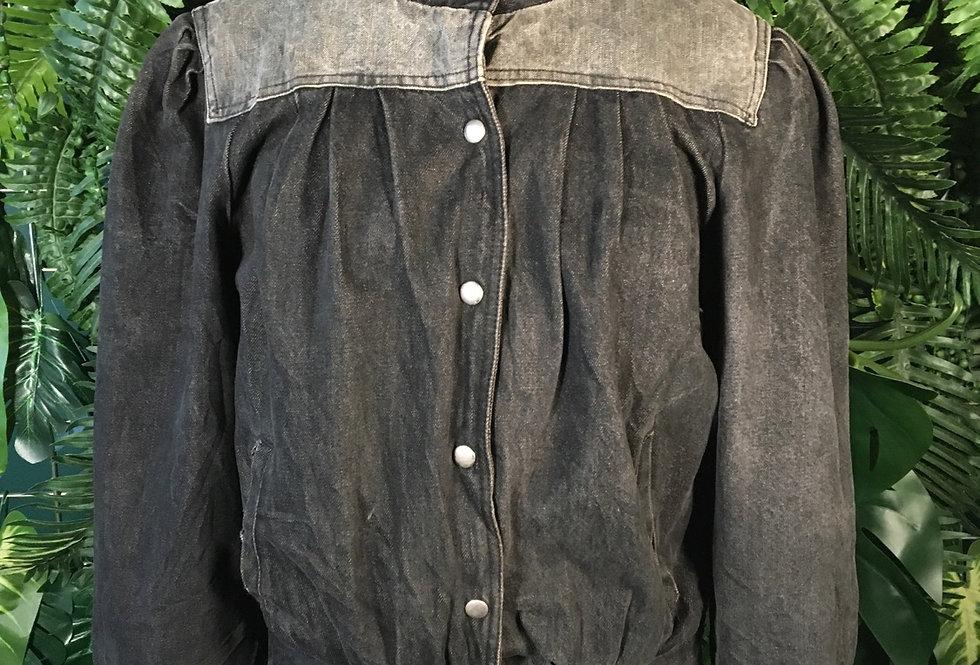 Latitude 80s Charcoal Denim Jacket