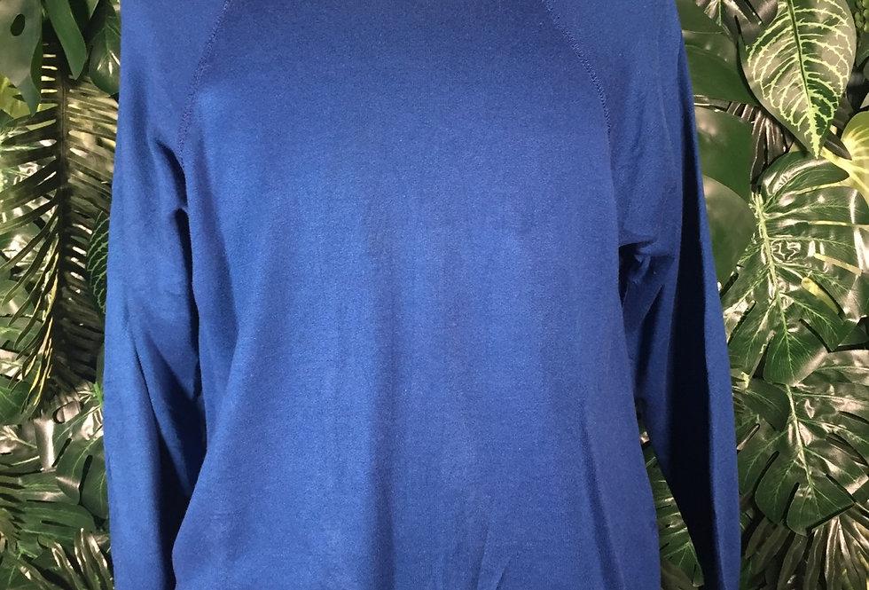Royal blue crew neck (L)