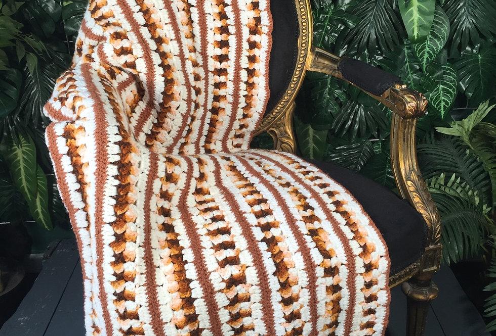 Hand crocheted blanket