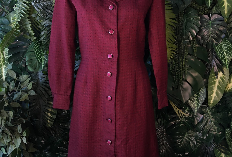 1970s shirt dress (size 12)