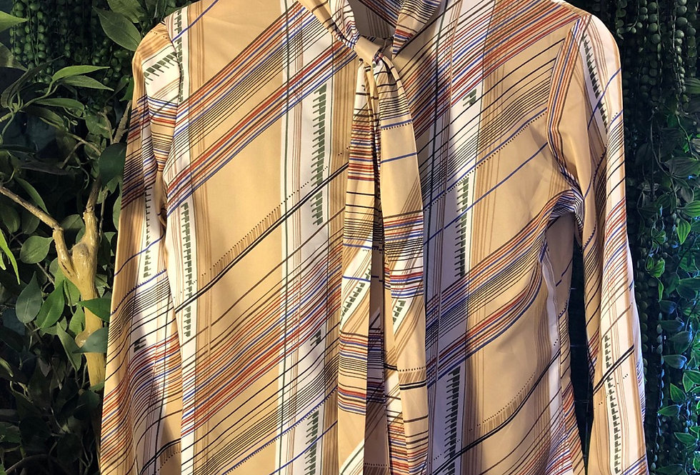 Stuart Lang pussy bow  blouse