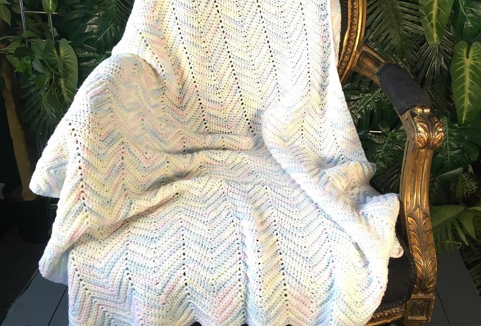 Soft pastel wool blanket
