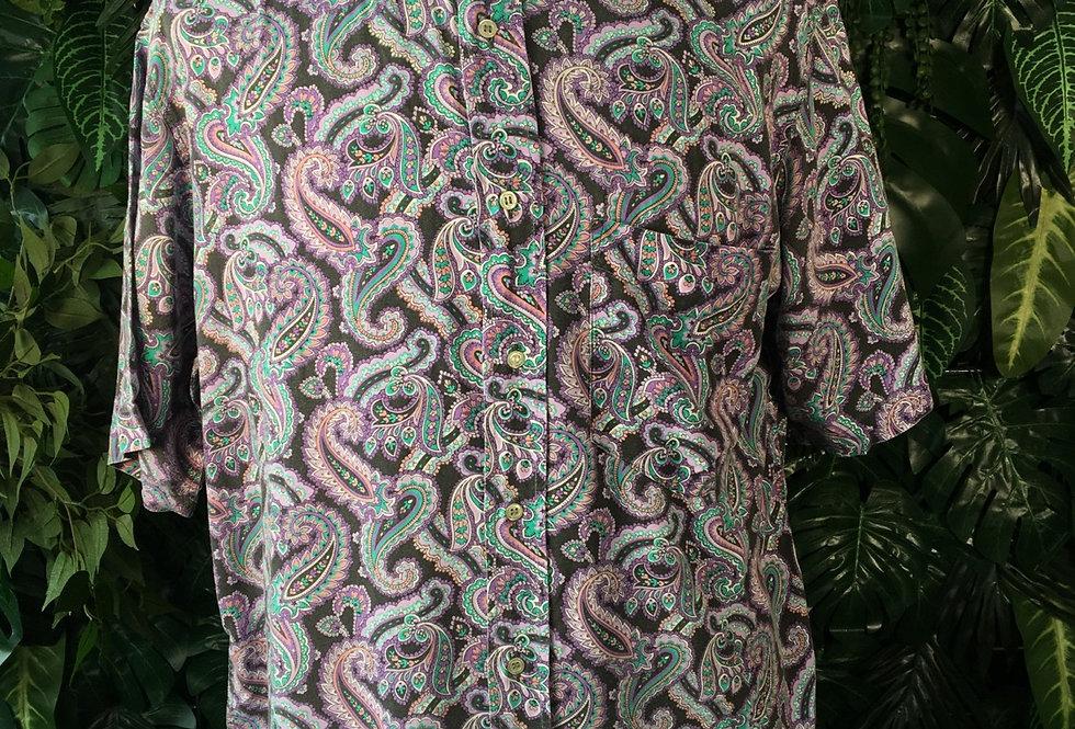Purple paisley shirt (L)