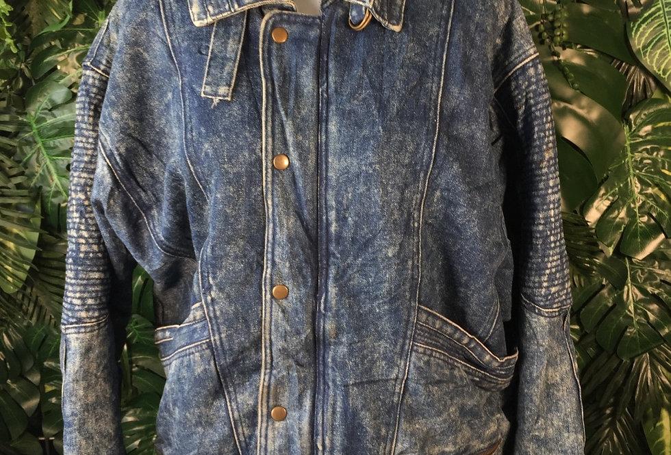 In Crown dark acid wash jacket (M)