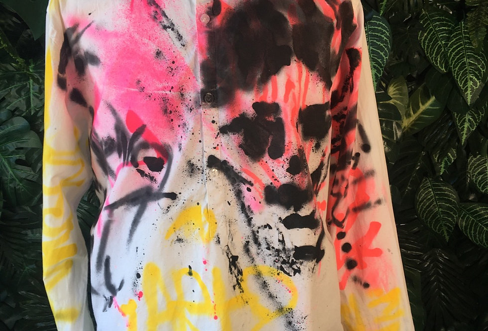 East West hand painted shirt (XL)
