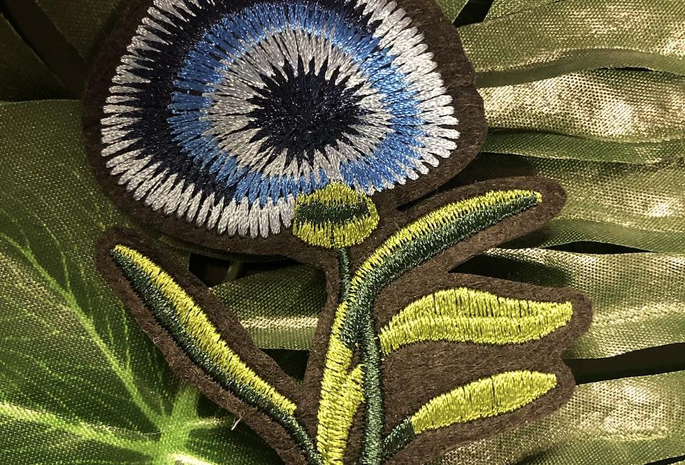 Floral iron on patch medium