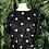 Thumbnail: Black and white polka dot sequin top
