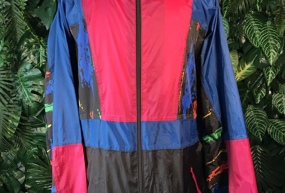 Printed 90s rain jacket (XL)