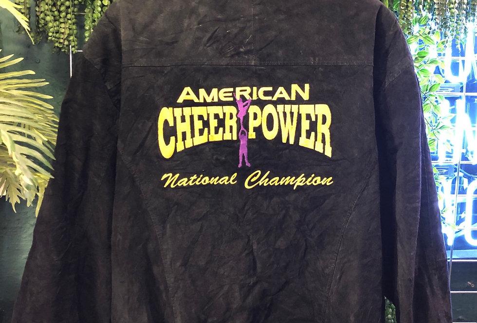 Suede American cheer power team leader