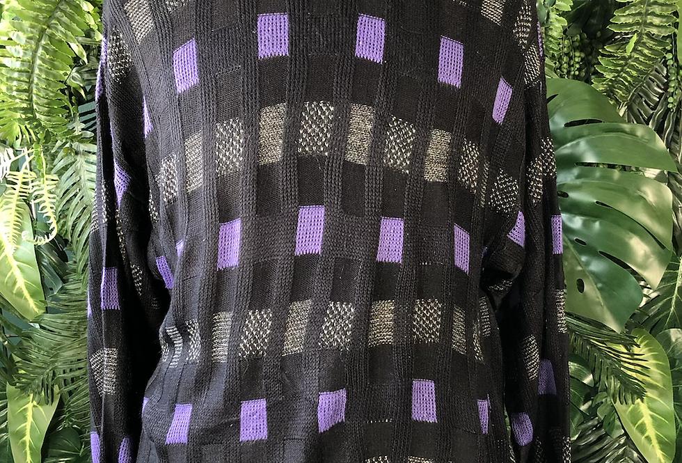 Purple block knit