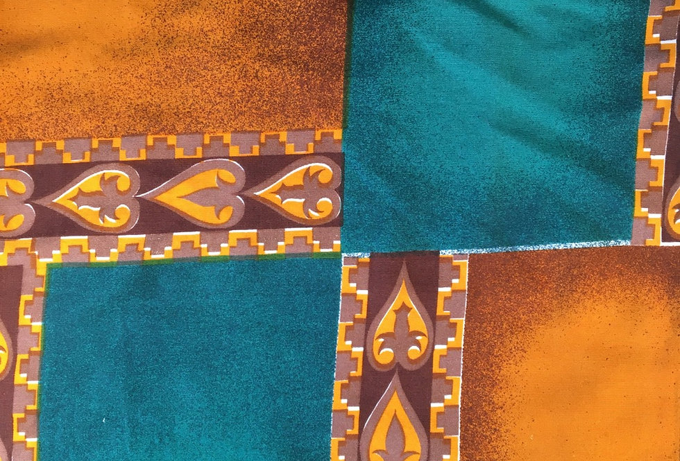Green and gold fabric