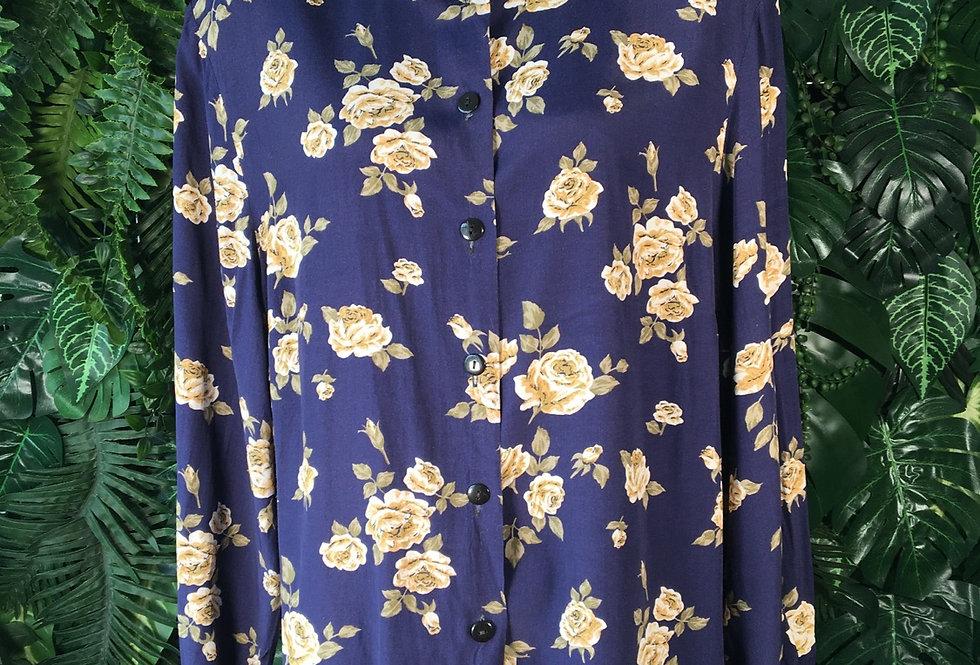 Navy rose blouse (size 22)
