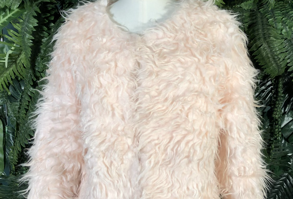 Candy pink faux fur