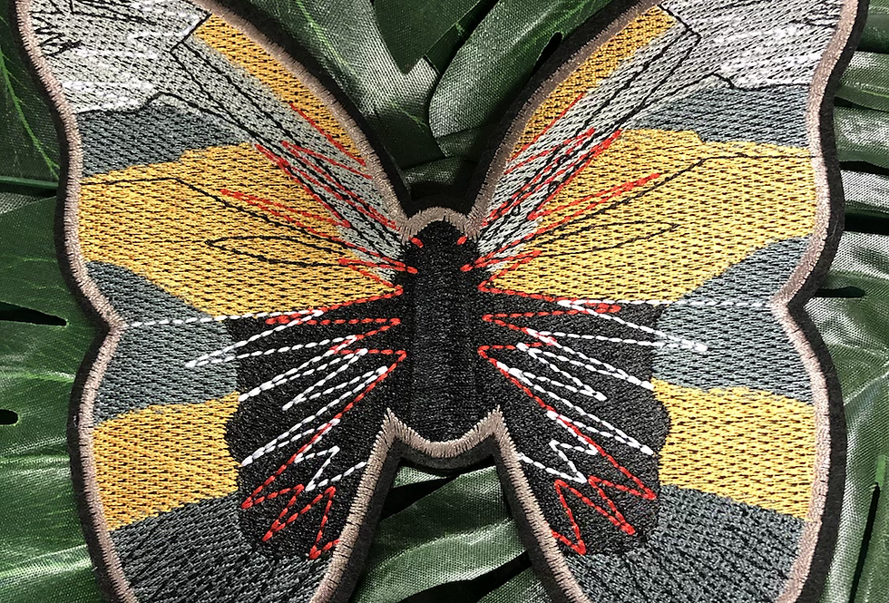 Butterfly 🦋 iron on badge Xl