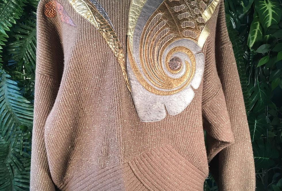 Dino Valiano Lather Detail Sweater