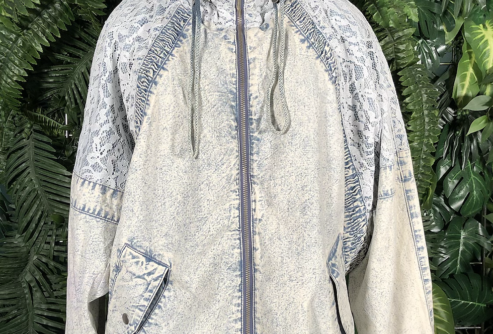 Easy west denim & lace jacket