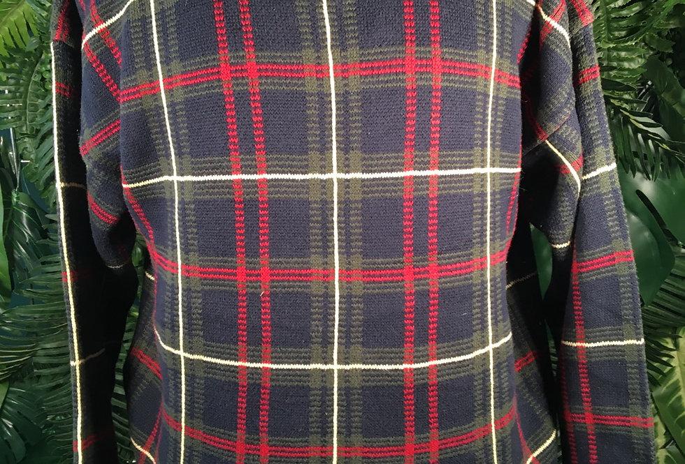 Woods & Gray Tartan Cotton Knit  (M)