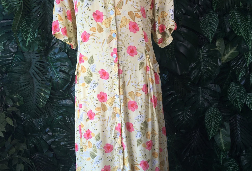 Canada yellow floral dress (size 20)