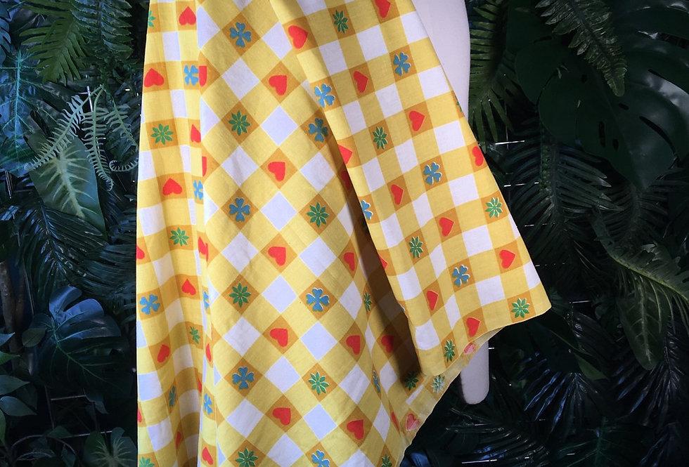 Love heart check fabric