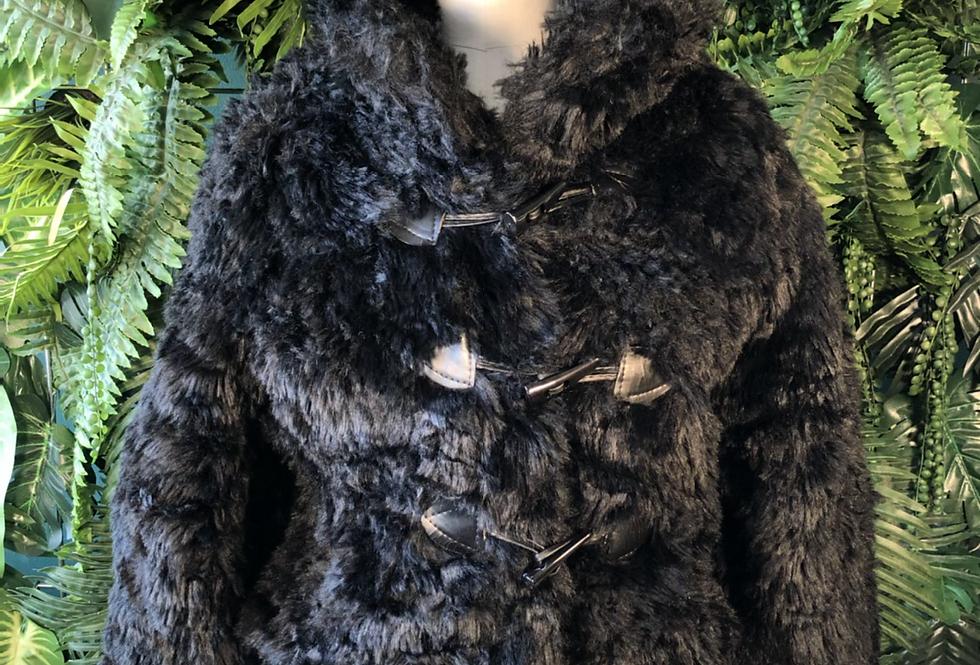 Cropped faux fur