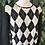 Thumbnail: 1990s harlequin sequin knit (m)