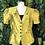 Thumbnail: Lime Gold and black blouse