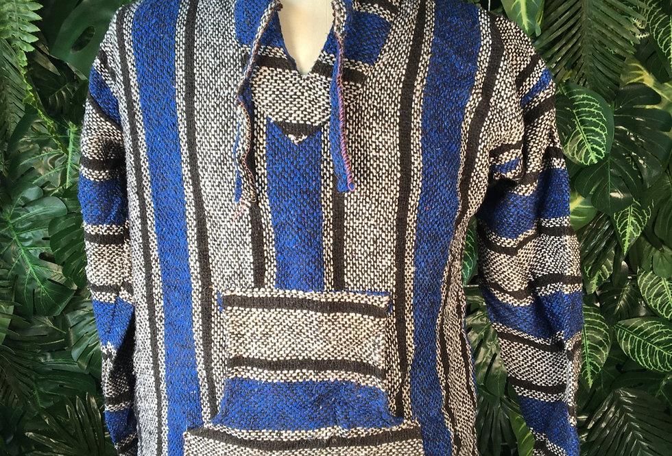 Blue & grey baja hoody (M)