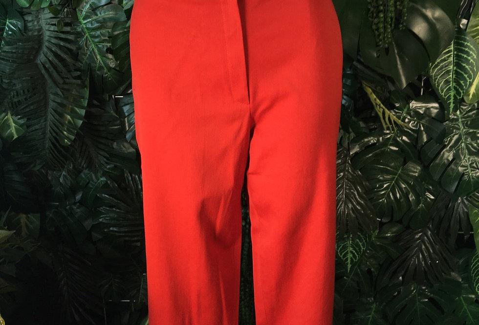 Escada burnt orange capri pants (size 42)