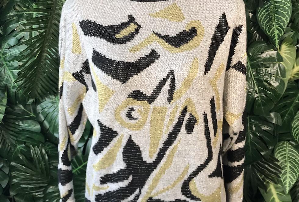 1980s Metallic knit (size M)