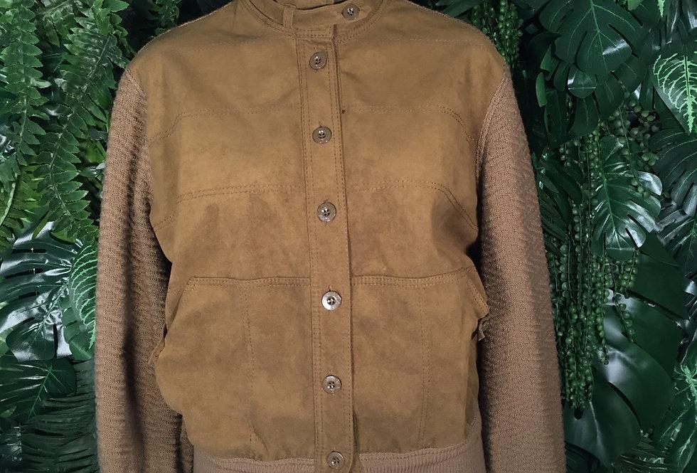 Original Escada combination suede/wool jacket (Size 10)